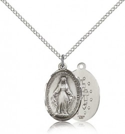 Miraculous Medal, Sterling Silver [BL4015]