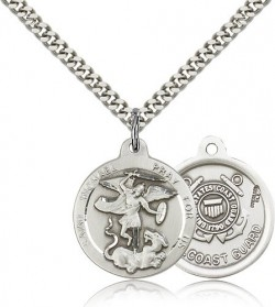 St. Michael Coast Guard Medal, Sterling Silver [BL4462]