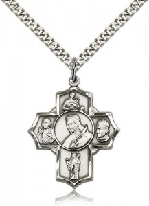 St. Philomena Vian Bos Jude Ger Medal, Sterling Silver [BL6492]