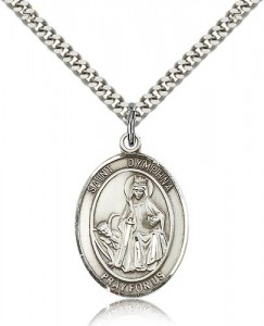 St. Dymphna Medal, Sterling Silver, Large [BL1643]