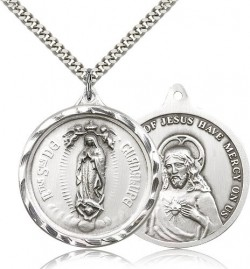 Our Lady of Guadalupe Medal, Sterling Silver [BL4239]