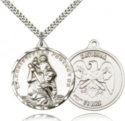 St. Christopher National Guard Medal, Sterling Silver [BL4258]