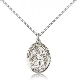 St. Gabriel the Archangel Medal, Sterling Silver, Medium [BL1859]