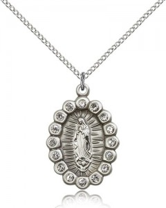 Our Lady of Guadalupe Medal, Sterling Silver [BL5303]