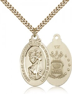 St. Christopher Air Force Medal, Gold Filled [BL5909]