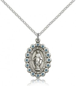 Miraculous Medal, Sterling Silver [BL5294]