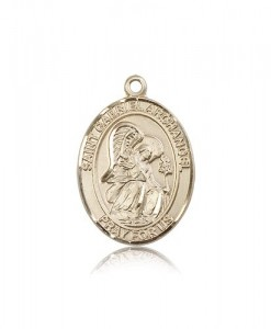 St. Gabriel the Archangel Medal, 14 Karat Gold, Large [BL1852]