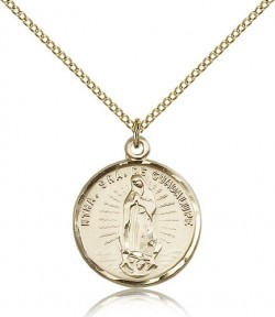 Our Lady of Guadalupe Medal, Gold Filled [BL5332]