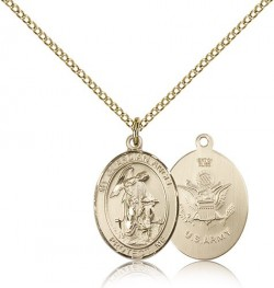 Guardian Angel Army Medal, Gold Filled, Medium [BL0077]