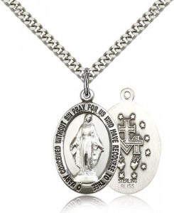 Miraculous Medal, Sterling Silver [BL5652]