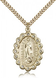 Our Lady of Guadalupe Medal, Gold Filled [BL5316]