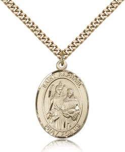 St. Raphael the Archangel Medal, Gold Filled, Large [BL3162]