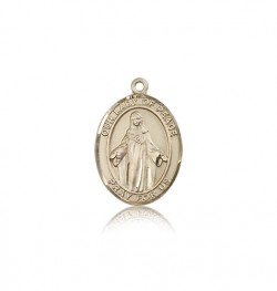 Our Lady of Peace Medal, 14 Karat Gold, Medium [BL0409]