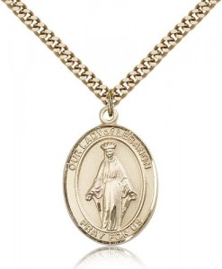 Our Lady of Lebanon Medal, Gold Filled, Large [BL0357]