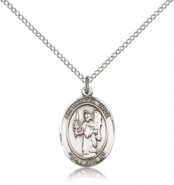 St. Uriel Medal, Sterling Silver, Medium [BL3830]