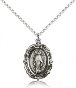 Miraculous Medal, Sterling Silver [BL5995]