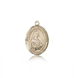 Our Lady of the Railroad Medal, 14 Karat Gold, Medium [BL0463]