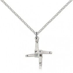 St. Brigid Cross Pendant, Sterling Silver [BL4384]