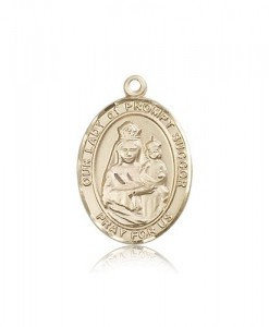 Our Lady of Prompt Succor Medal, 14 Karat Gold, Large [BL0426]