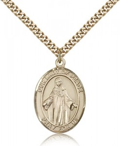 Our Lady of Peace Medal, Gold Filled, Large [BL0411]