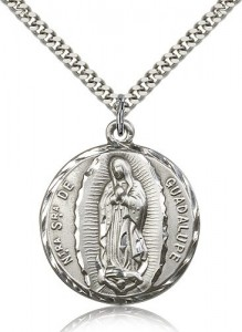 Our Lady of Guadalupe Medal, Sterling Silver [BL6313]