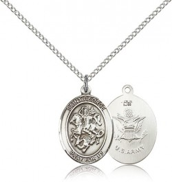 St. George Army Medal, Sterling Silver, Medium [BL1904]