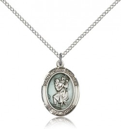 St. Christopher Medal, Sterling Silver, Medium [BL1329]
