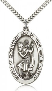 St. Christopher Medal, Sterling Silver [BL6532]