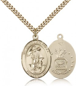 Guardian Angel Air Force Medal, Gold Filled, Large [BL0067]