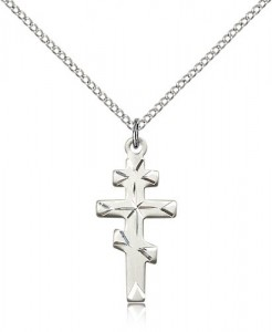 Greek Orthodox Cross Pendant, Sterling Silver [BL6282]