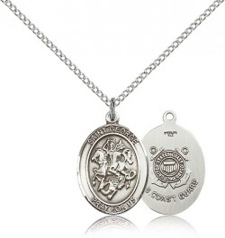 St. George Coast Guard Medal, Sterling Silver, Medium [BL1913]