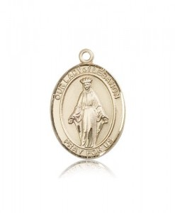 Our Lady of Lebanon Medal, 14 Karat Gold, Large [BL0354]
