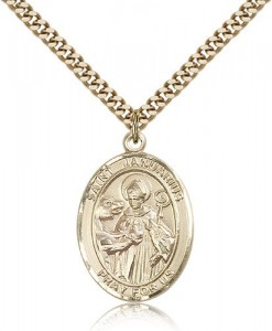 St. Januarius Medal, Gold Filled, Large [BL2172]