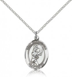 St. Christopher Softball Medal, Sterling Silver, Medium [BL1425]
