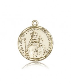 Our Lady of Consolation Medal, 14 Karat Gold [BL4062]