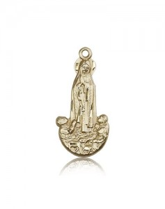 Our Lady of Fatima Medal, 14 Karat Gold [BL6616]