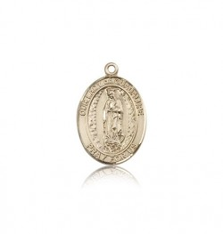 Our Lady of Guadalupe Medal, 14 Karat Gold, Medium [BL0310]