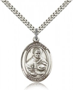 St. Albert the Great Medal, Sterling Silver, Large [BL0624]