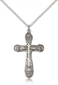 Cross Pendant, Sterling Silver [BL4359]