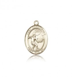 St. Christopher Soccer Medal, 14 Karat Gold, Medium [BL1400]