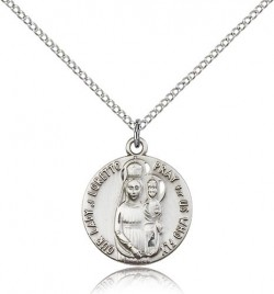 Our Lady of Loretto Medal, Sterling Silver [BL4937]
