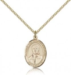 Blessed Pier Giorgio Frassati Medal, Gold Filled, Medium [BL0023]