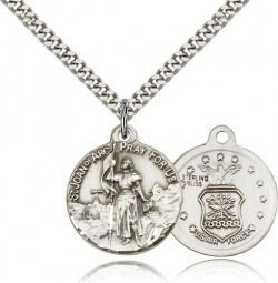 St. Joan of Arc Air Force Medal, Sterling Silver [BL4209]