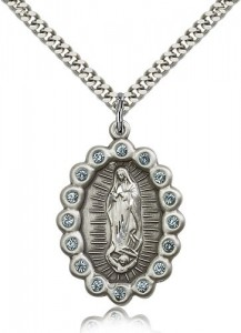 Our Lady of Guadalupe Medal, Sterling Silver [BL5315]