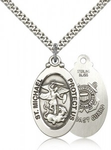 St. Michael Coast Guard Medal, Sterling Silver [BL5950]