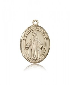 Our Lady of Peace Medal, 14 Karat Gold, Large [BL0408]