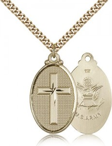 Air Force Cross Pendant, Gold Filled [BL5965]