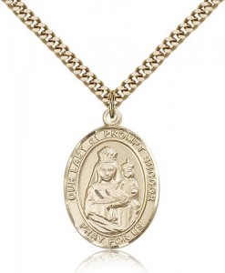 Our Lady of Prompt Succor Medal, Gold Filled, Large [BL0429]