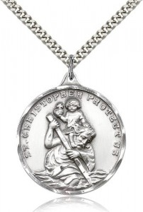St. Christopher Medal, Sterling Silver [BL4235]