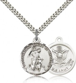 Army Guardian Angel Medal, Sterling Silver [BL4440]